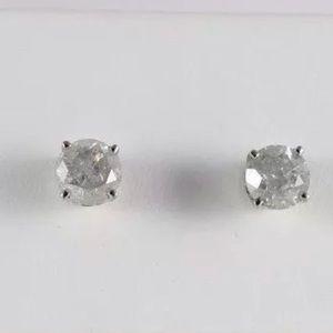 1LEFT⭐️3.50 CT Certified Natural Diamond 14K Studs